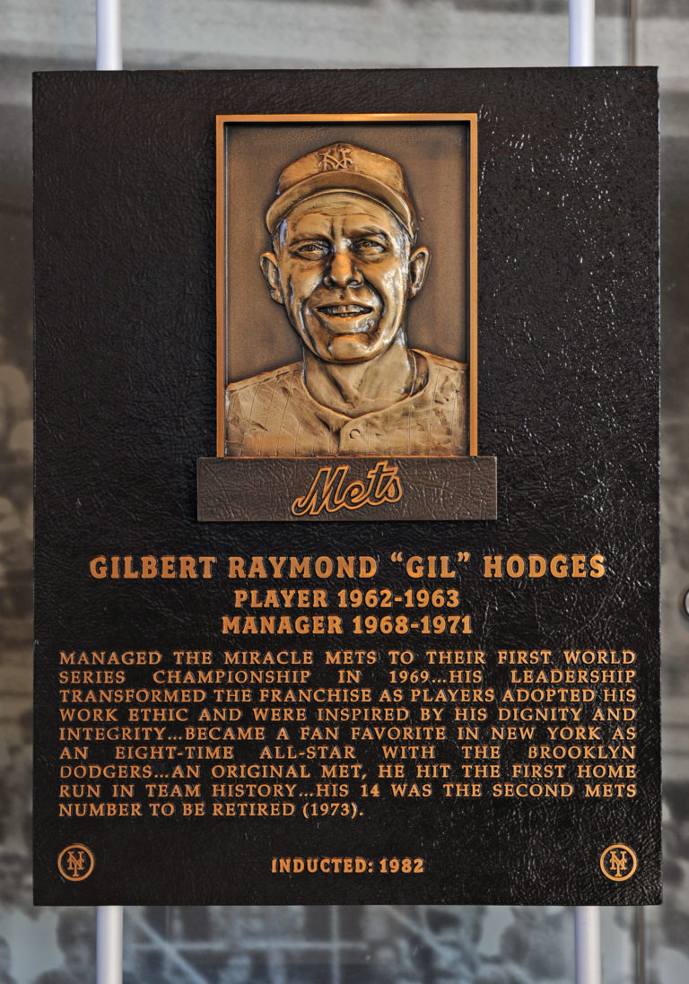 Gil Hodges Mets Hall of Fame Plaque