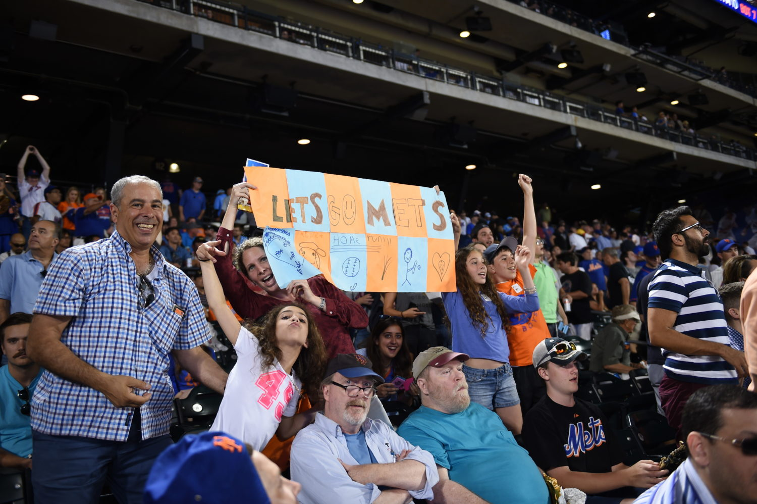 Young Fans Cheer for Mets at Citi Field