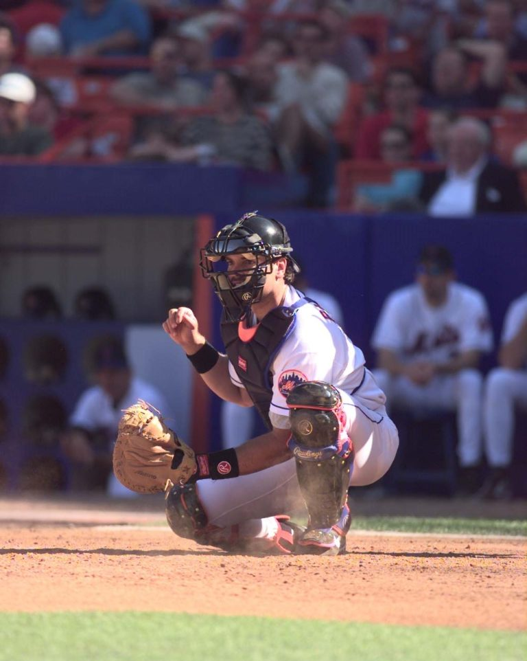 Mike Piazza at Home Plate