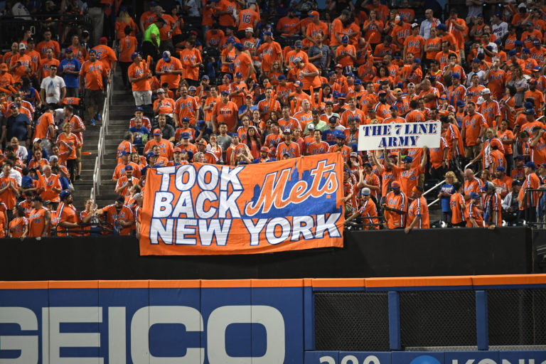 7 Line Army Supports Mets During Subway Series