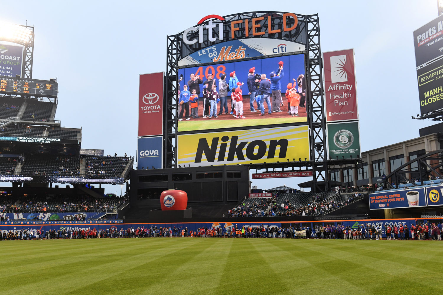 Youth and Family On Warning Track at Citi Field and on Screen