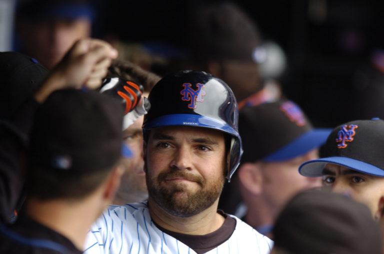 Mets Teammates Celebrate Piazza Home Run