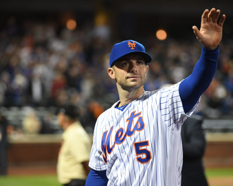 David Wright Waves to Fans