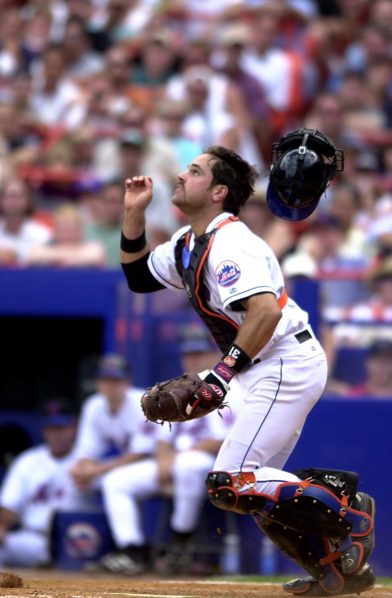 Mike Piazza Release Mask to Catch a Pop Up