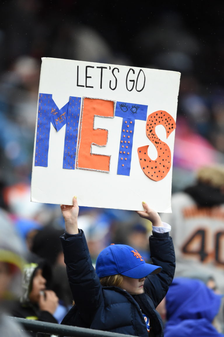 Let's Go Mets Sign at Citi Field
