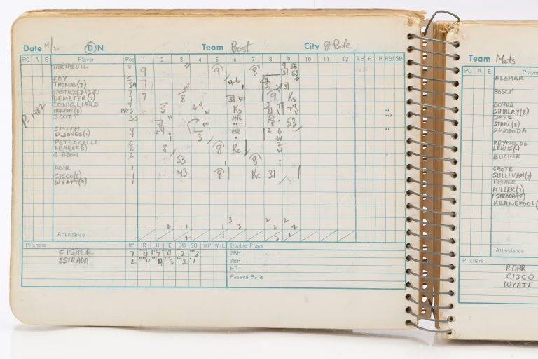 Scorebook: Spring Training Game vs. Boston Red Sox