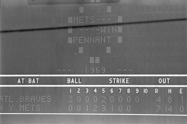 Shea Stadium Scoreboard from 1973 NLCS Victory
