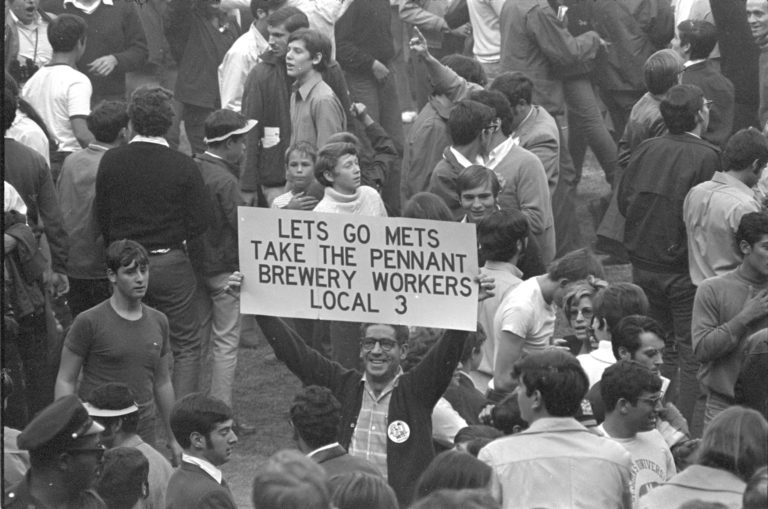 Local Union Member Cheers Mets in 1969 NLCS