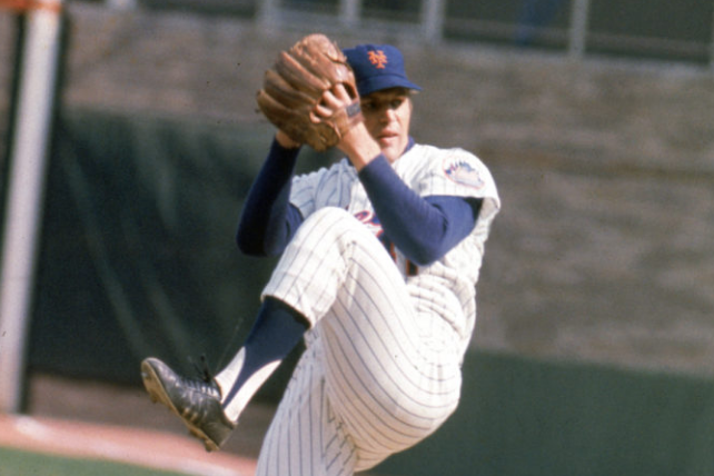 Tom Seaver Winds Up for a Pitch