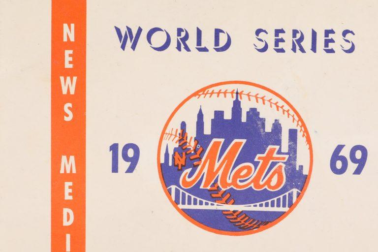 1969 World Series Media Parking Pass