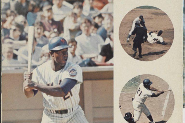 1969 Mets Yearbook Page Featuring Cleon Jones