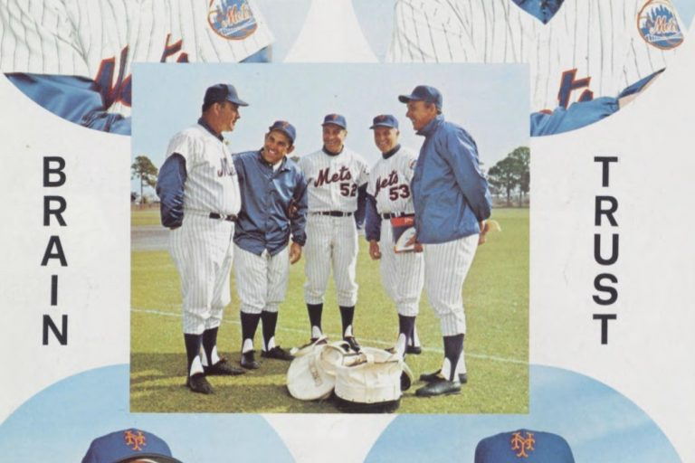 1969 New York Mets Coaching Staff Page from Yearbook