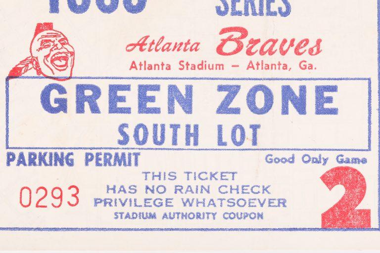 1969 NLCS Game 2 Parking Pass