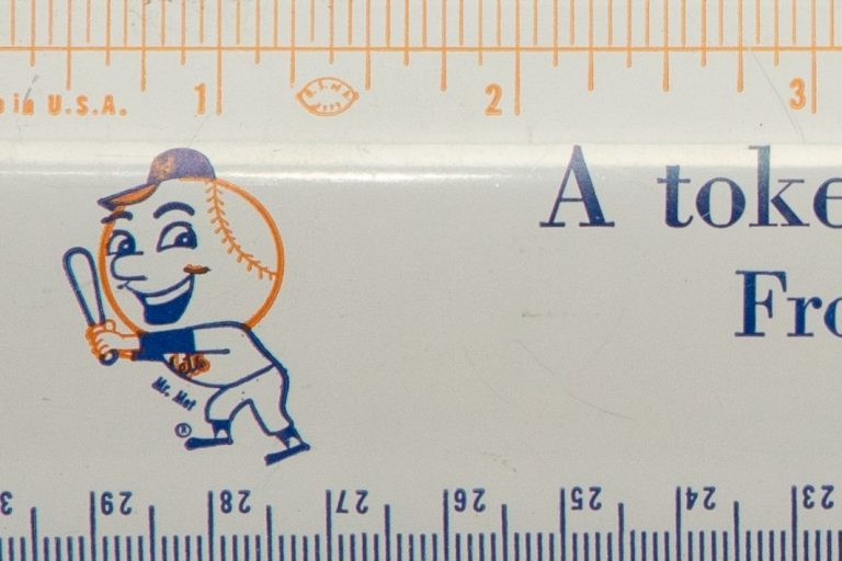 Mets Promotional Ruler From End of 1964 Season