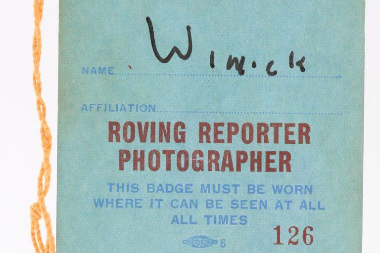 1969 NLCS Roving Reporter Photographer Pass