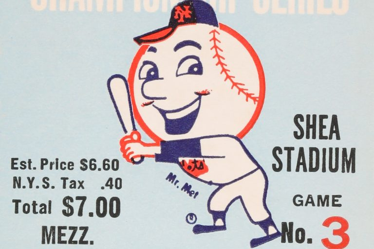 Ticket from Game 3 of the 1969 NLCS