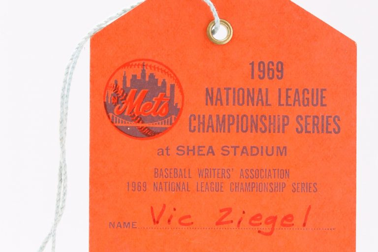 1969 NLCS Clubhouse Pass