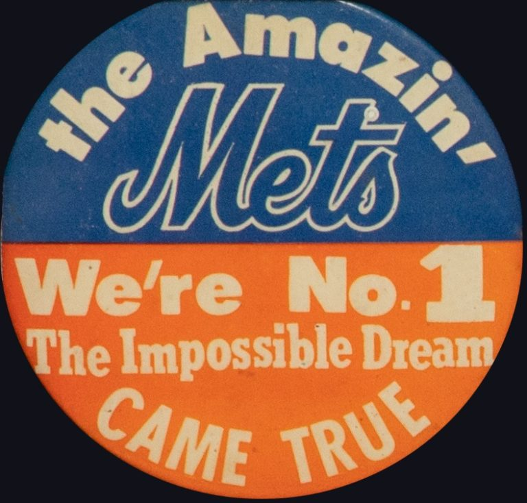 The Impossible Dream Mets World Series Button
