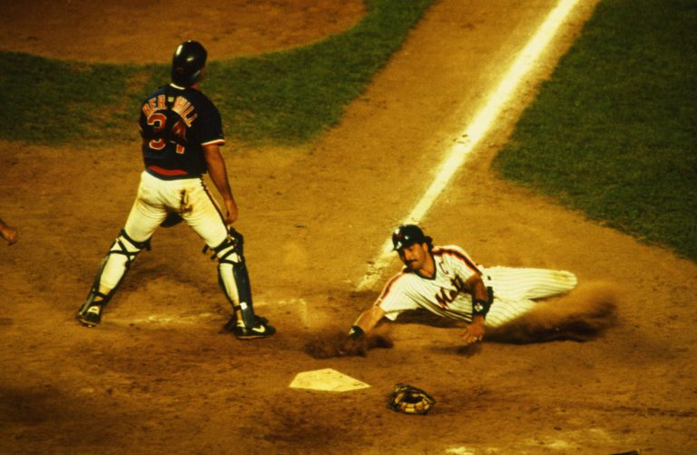 Keith Hernandez Slides Into Home in 1987