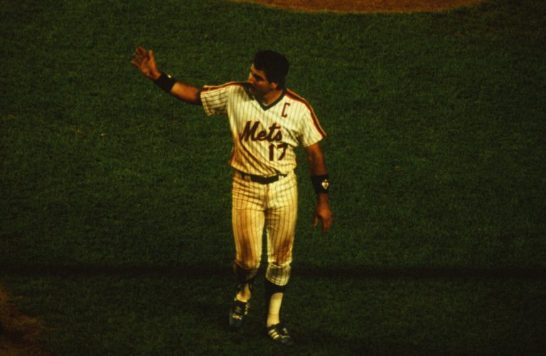 Keith Hernandez Waves to the Mets Fans