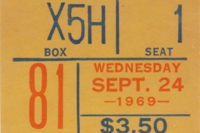 Ticket from Mets' First NL East Title