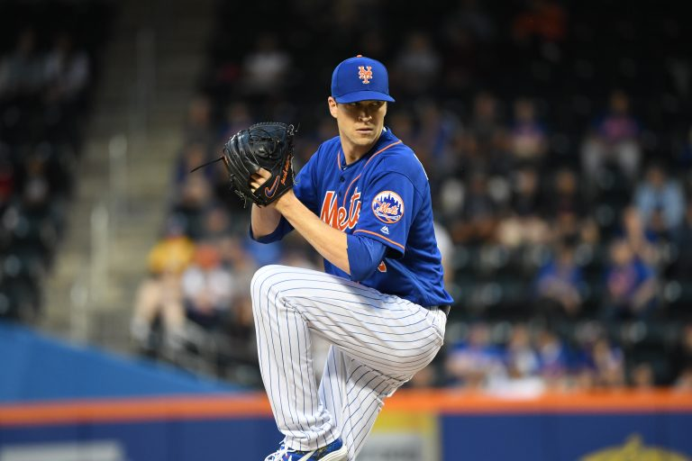Jacob deGrom Winds Up for a Pitch