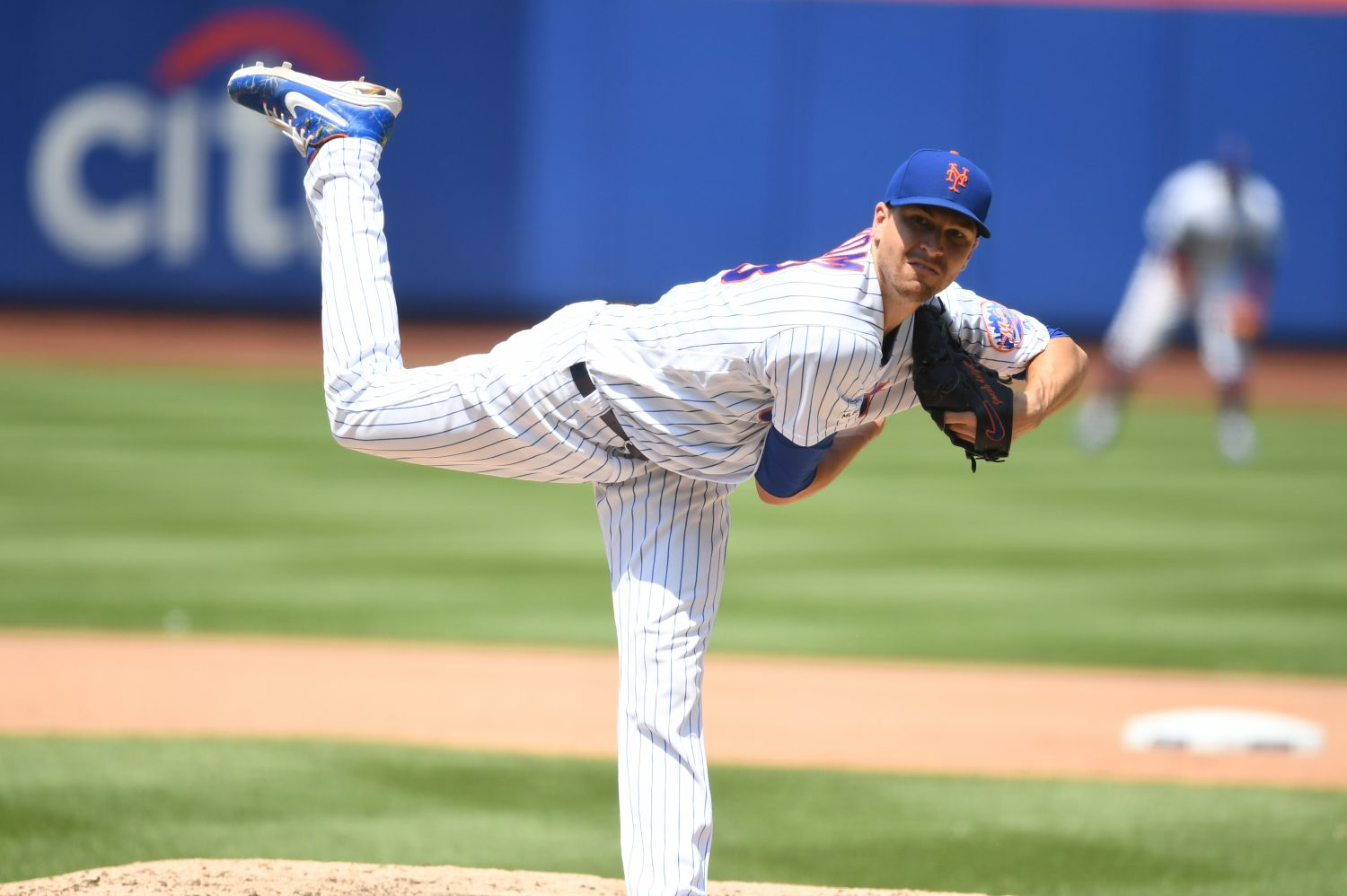 Jacob deGrom Releases Pitch in July 2019