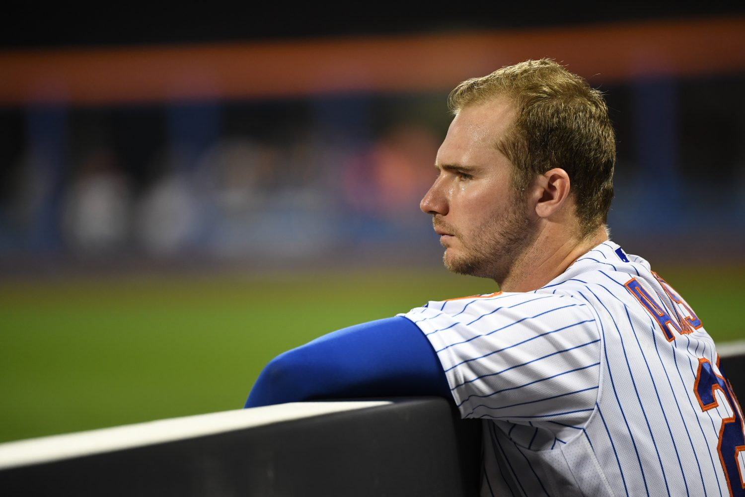 Pete Alonso Deep in Thought