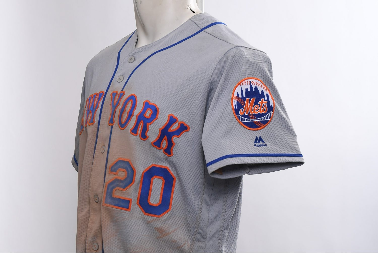 Pete Alonso's Game-Worn Jersey from First Two Games