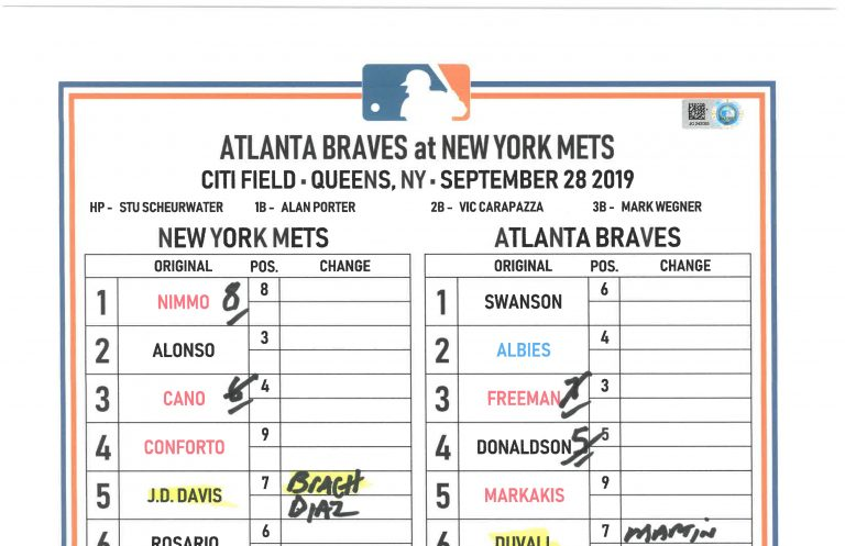 Lineups: Pete Alonso Breaks Rookie Home Run Record