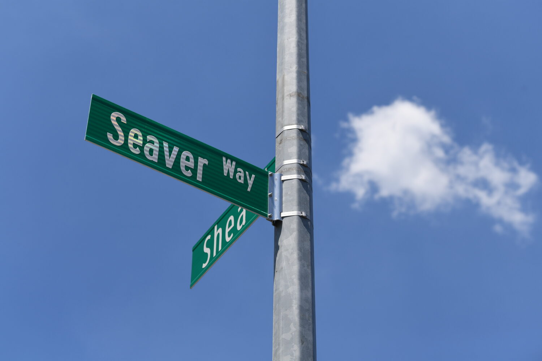 Seaver Way Street Sign