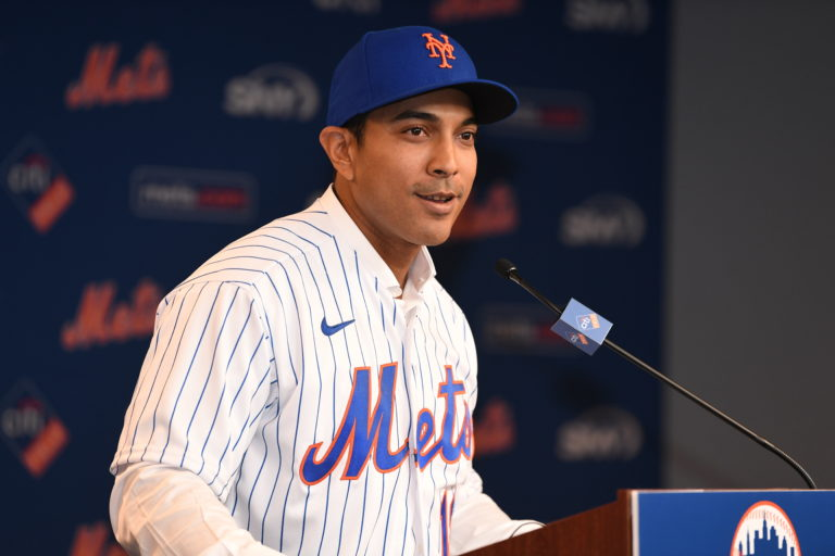 Luis Rojas Speaks During Press Conference