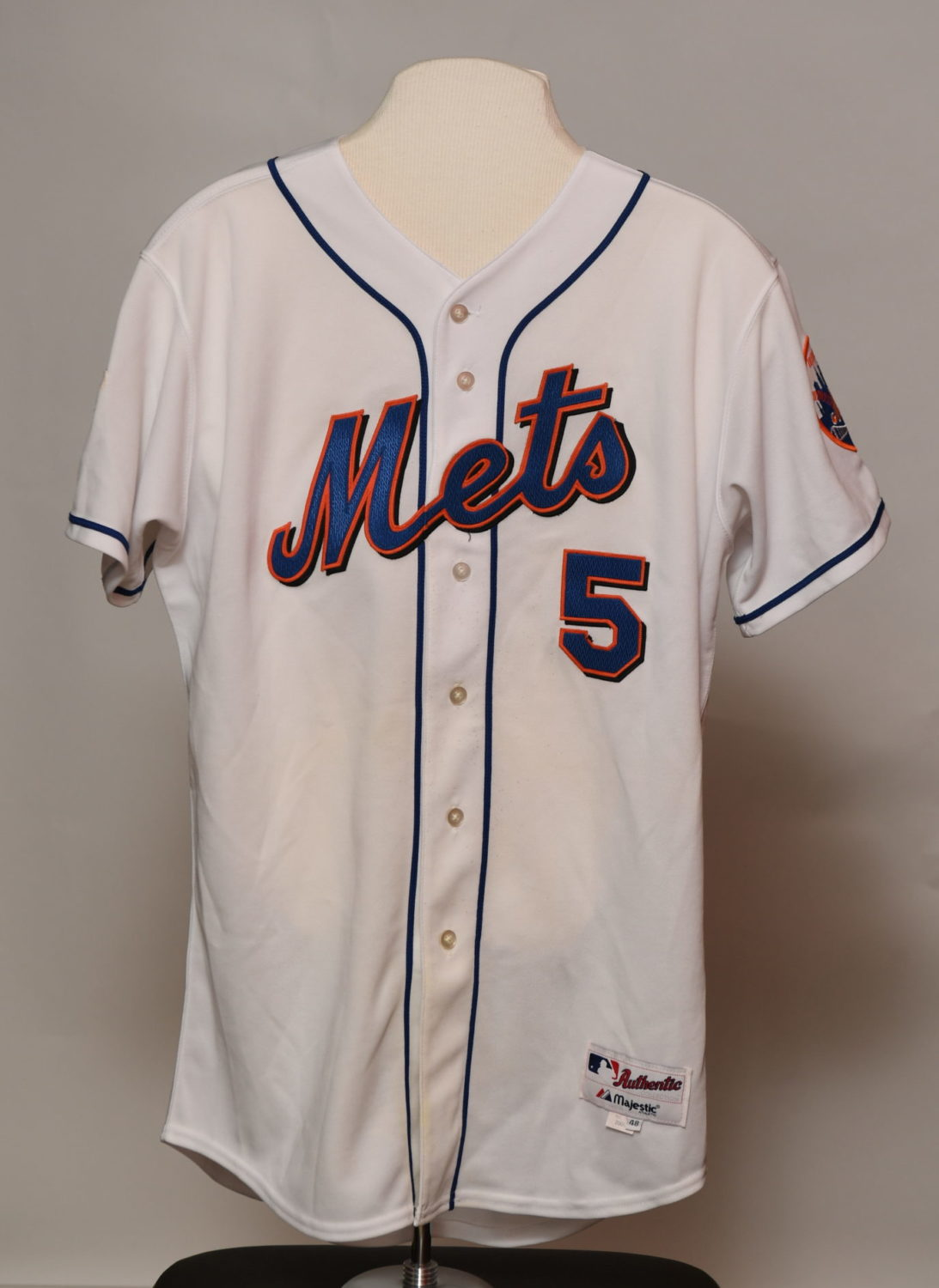 Front of white jersey with
