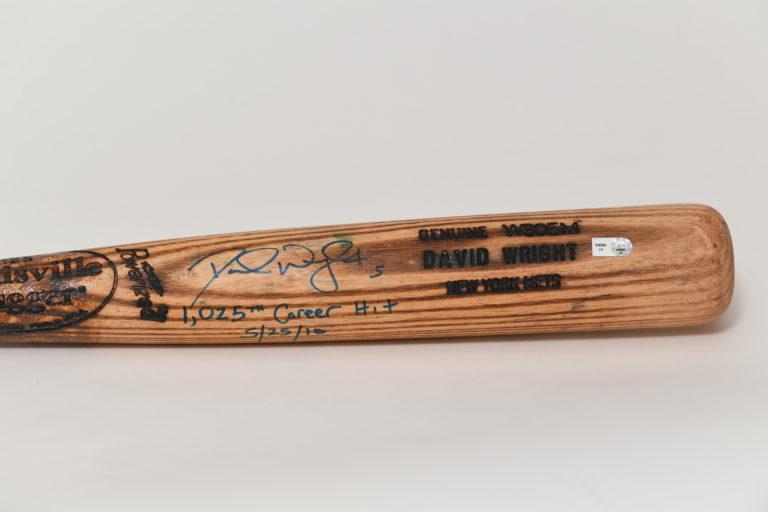 Close-up of barrel of baseball bat with